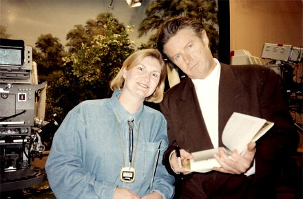 "Marianne Schwab and Don Henley on the set of ABC-TV's ""Home Show."""